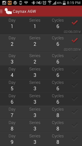 วันที่สอง 6 Cycles จำนวน 2 Series ใช้เวลาประมาณ 14 นาที 30 วินาที