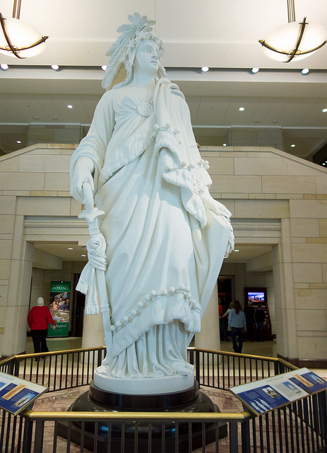 Life size replica of the Statue of Freedom from atop the Capitol Dome.