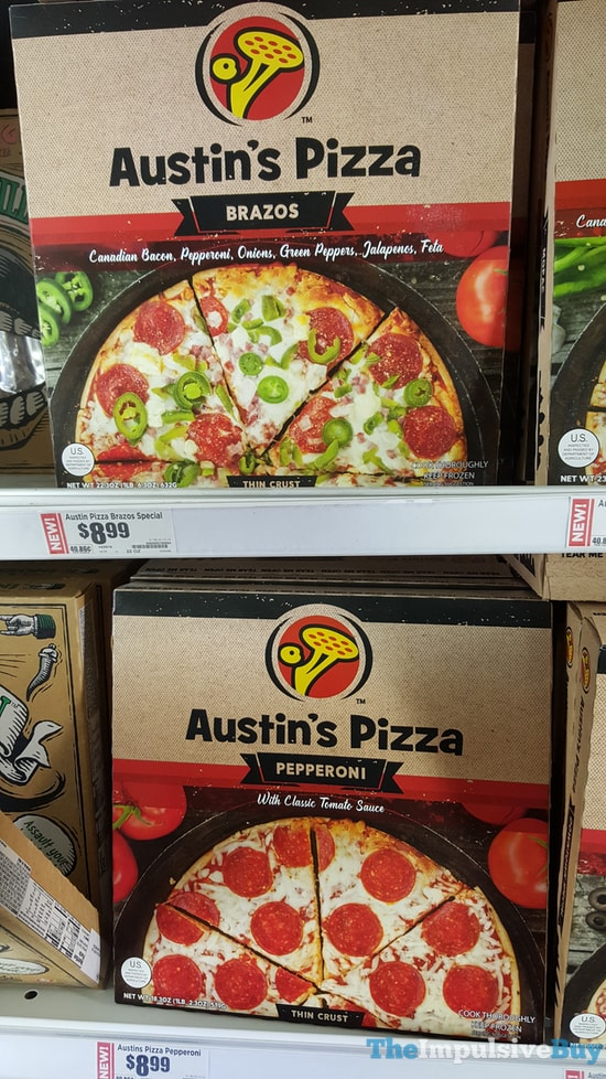 Austin's Pizza Brazos and Pepperoni Pizzas