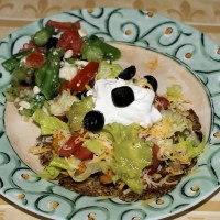 Mexican Style Asparagus Salad Sides with Tostado