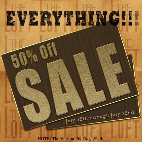 The Loft 50%  sale