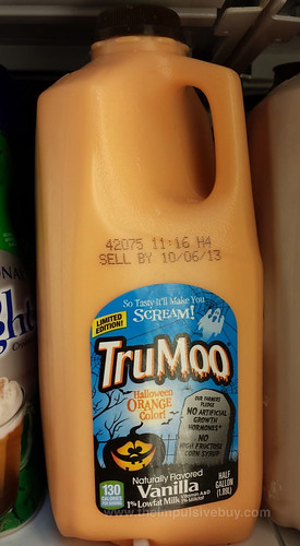Limited Edition TruMoo Vanilla Halloween Orange Color