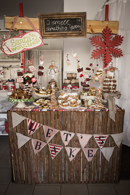 Christmas Booth with Cake Buffet