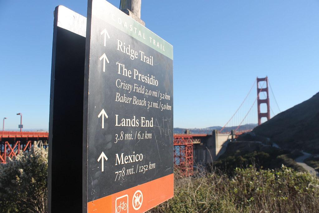El Golden Gate, al fondo
