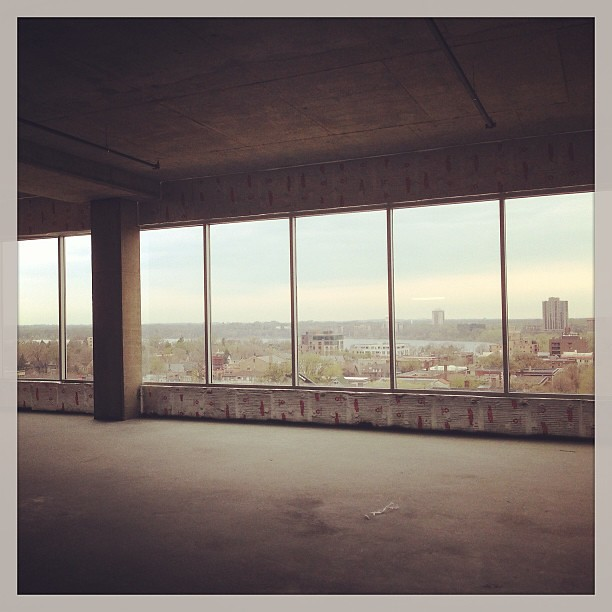 Saw this awesome space in the MoZaic Building in Uptown. The views were unbelievable and the outdoor veranda would be ridiculous. Fulton and Templeton all around! Alas, it doesn't quite suit our business...