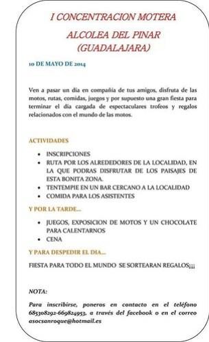 I Concentración Motera - Alcolea del Pinar