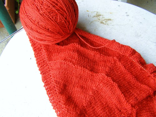 shawl knitting