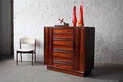 Wicked Westnofa Mid Century Modern Rosewood Dresser Gentlemens Chest (Norway, 1960s)