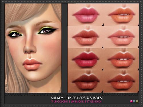 Audrey Lip Color Shades