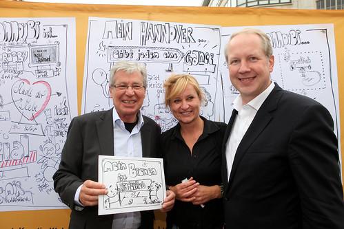 Scribbeleien über Hannover und Bremen mit den Bürgermeistern by Tanja FÖHR