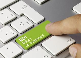 ROI Return on Investment Tastatur Finger