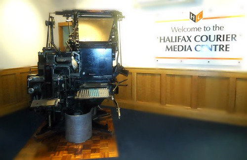 Old Typewriter at The Halifax Courier