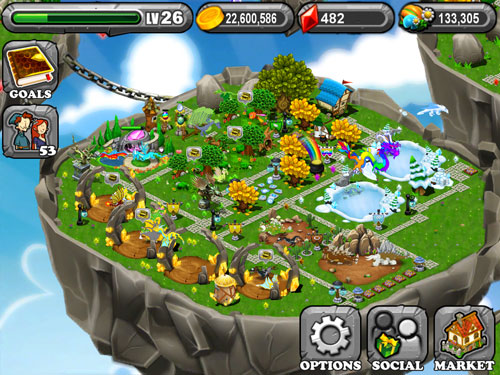My first DragonVale Island