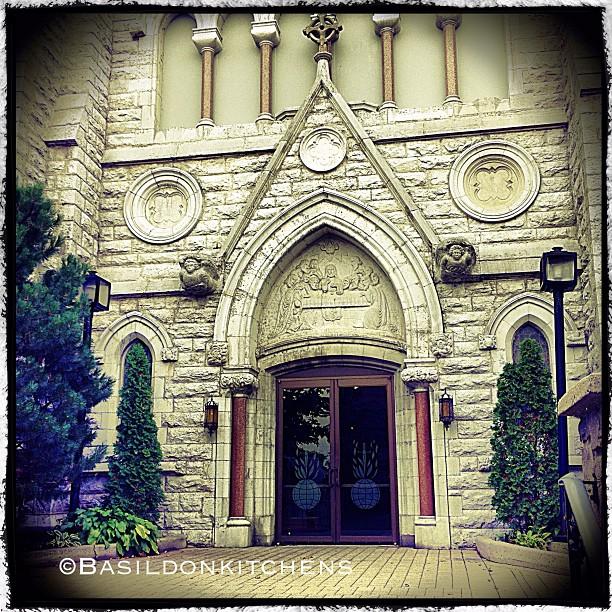 Aug 26 - entrance {St Michael the Archangel Parish, Belleville}. An impressive entrance. #fmsphotoaday #church #romancatholic #entrance #stmichaelthearchangel