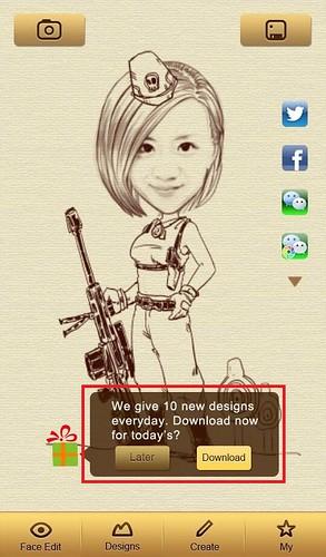 04_好康呈獻給WeChat 親愛的用戶們,Android版魔漫相機用戶還有專屬免費範本!