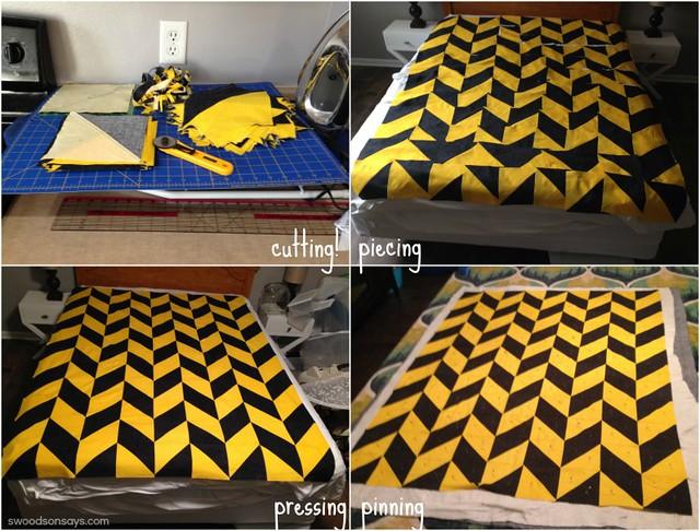 My First Quilt - Process Photos
