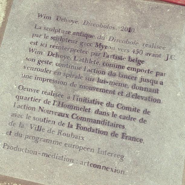 information sur le Discobolos de Wim Delvoye