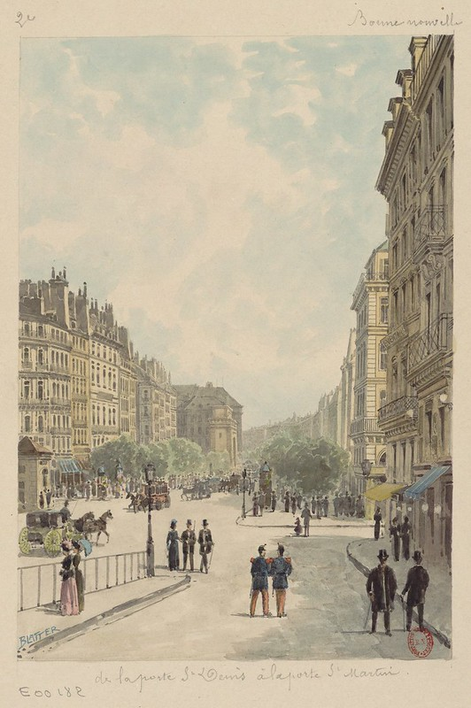 De la porte St Denis à la porte St Martin (1800s)