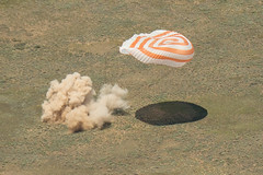 Landing of the Soyuz TMA-19M spacecraft