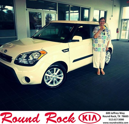 Thank you to Eleanor Stuckemeyer on your new 2013 #Kia #Soul from Kelly  Cameron and everyone at Round Rock Kia! #NewCarSmell by RoundRockKia