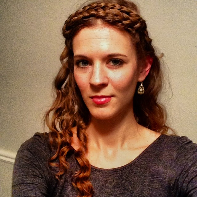 Never seen Game of Thrones, but I take my holiday hair cues from it. #holidayofficepartyselfie