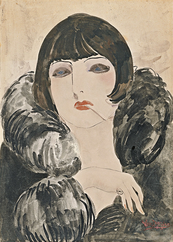Kees van Dongen, Portrait of a Woman with Cigarette (Kiki de Montparnasse), 1922-24
