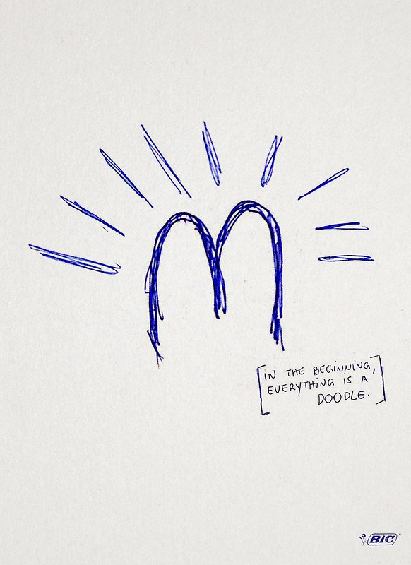 Bic Pen - In the beggining, everything is a doodle Mcdonald's