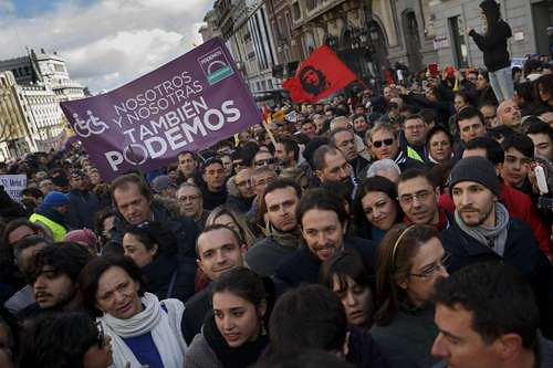 Marcha en apoyo de Podemos
