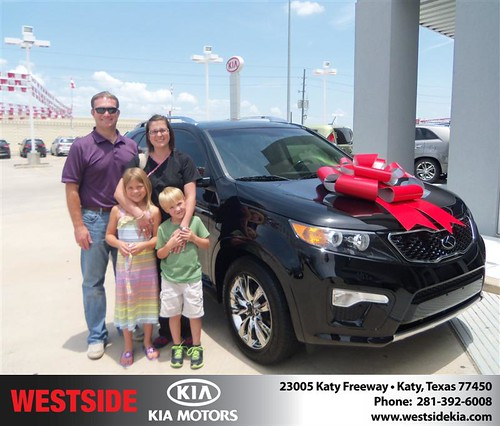Thank you to Clay Goehring on the 2013 Kia Sorento from Gilbert Guzman and everyone at Westside Kia! by Westside KIA
