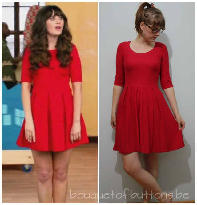 new girl opening credit copycat dress