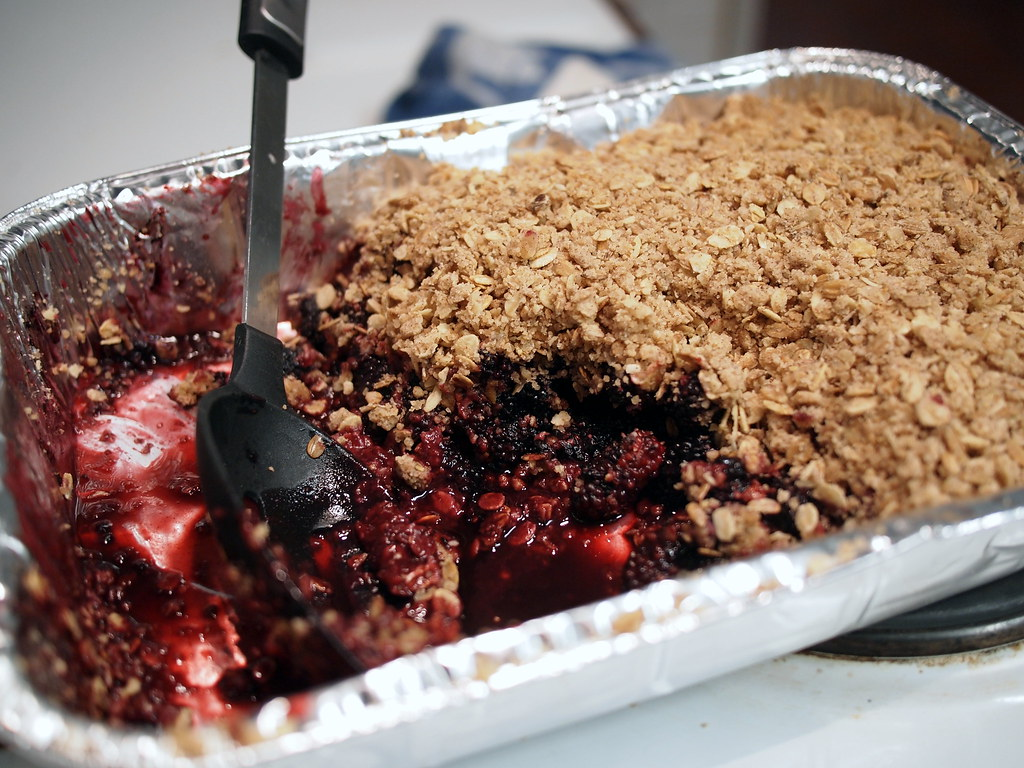 Mulberry crumble