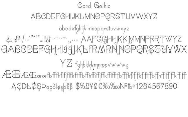 Card Gothic