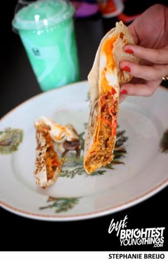 Taco Bell Stuft Nachos Taste Test MTN Dew Baja Blast Photos Brightest Young Things Stephanie Breijo6