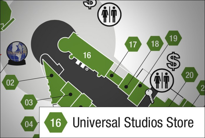New CityWalk Map Confirms Universal Studio Store Expansion