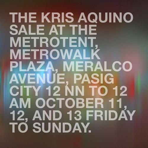9b3e71d2b869 Kris Aquino sells Chanel, YSL, Celine etc. in annual bazaar