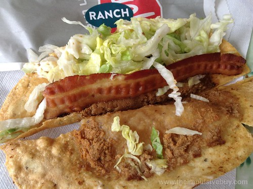 Jack in the Box Bacon Ranch Monster Taco Innards