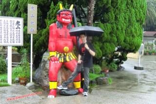 CIMG1194 Con el demonio de la montaña, Infierno Oni Yama Jigoku (Beppu) 13-07-2010 copia