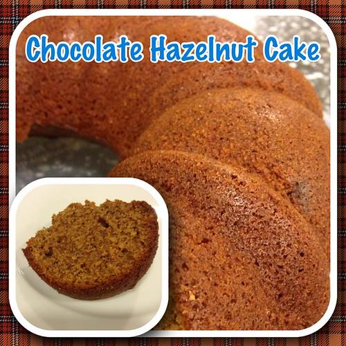 Choc hazelnut cake