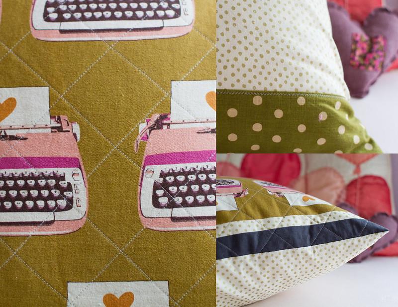 melody miller typewriter pillow