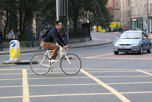 Hipster on a single speed