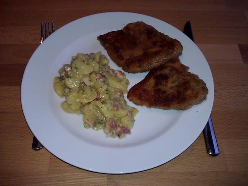 Schnitzel zu Kartoffelsalat