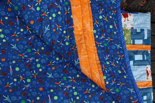Flannel Backed with a Zippy Orange Stripe