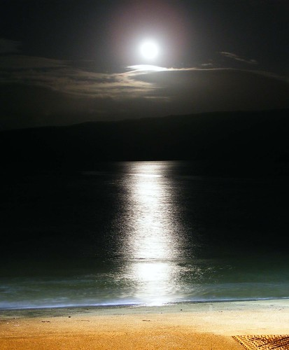 Moonlight at the pier by Calum Hall Tobermory