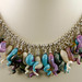 lampwork and sterling necklace