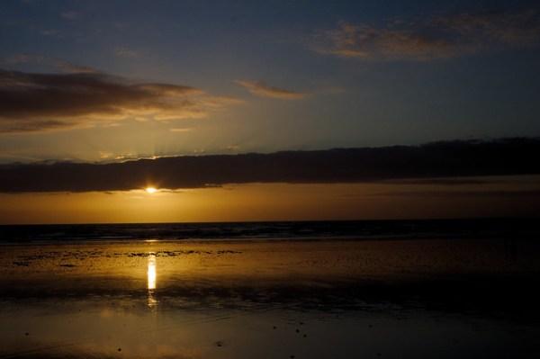 Couché de soleil - Ault-Onival- marée basse