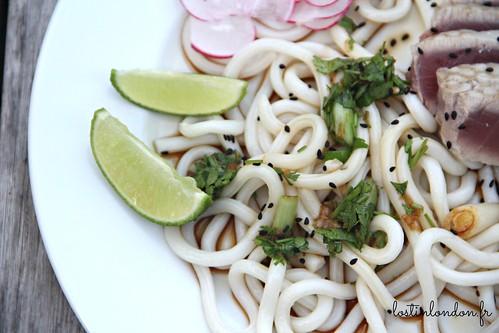 thon et udon noodle au gingembre
