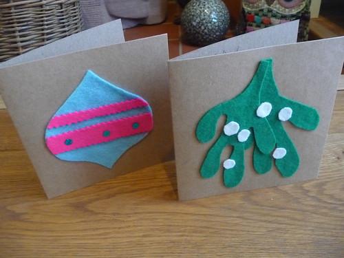Handmade Felt Christmas Cards