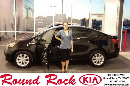 Thank you to Justina Baker on your new 2013 #Kia #Rio from Roberto Nieto and everyone at Round Rock Kia! #Awesome by RoundRockKia
