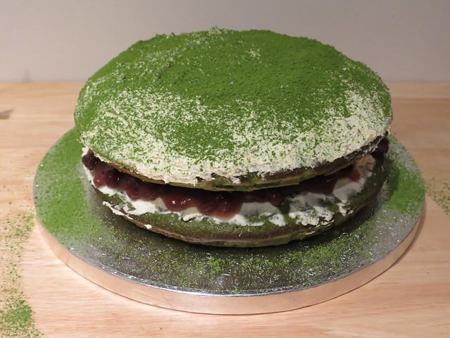 Cooking: Matcha & Azuki Cake