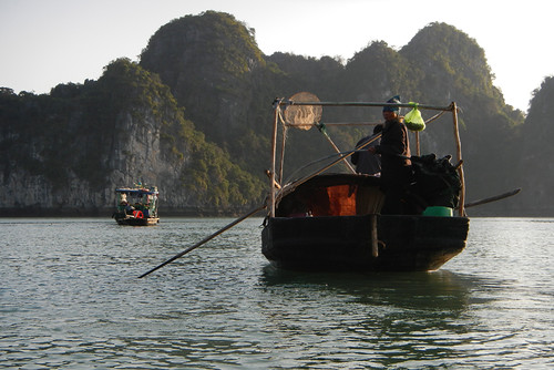 Fishing Boats in Halong Bay, Vietnam